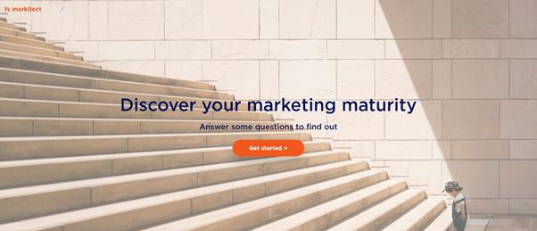 Screenshot marketing maturity outgrow